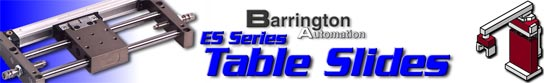 Table Slides - Modular Automation Components from Barrington Automation